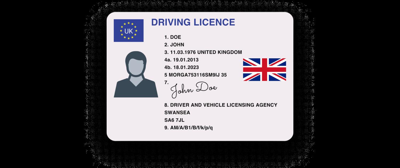 License Front UK